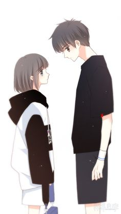 Reading these love stories on Flying Lines may give you a satisfying day ❤ ❤ ❤ Cute Couple Drawings, Cute Couple Cartoon, Cute Couple Art, Cute Love Cartoons, Anime Couples Drawings, Anime Couples Manga, Anime Guys, Cute Couples, Cute Chibi Couple