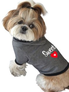 Valentines Day Clothes / Hoodie Gifts for the Puppy Dog: Ruff Ruff and Meow Sweet Heart Dog Hoodie @ Amazon