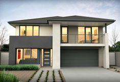 Two Story House Design, House Front Design, Modern House Design, Modern House Facades, Modern House Plans, Modern Architecture, Home Building Design, Bungalow House Design, Dream House Exterior