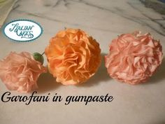 Fiori in pasta di zucchero: garofani by ItalianCakes - YouTube
