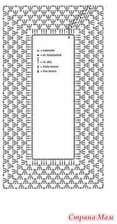 DIY - Handmade Purse and Wallet Ideas & Sew Recommendations Crochet Borders, Crochet Diagram, Crochet Motif, Crochet Designs, Crochet Doilies, Crochet Stitches, Crochet Patterns, Mode Crochet, Crochet Girls
