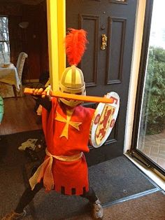 Homemade boys knight costume with some instructions