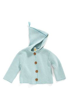 Stem Baby Organic Cotton Hooded Cardigan (Baby Boys) available at #Nordstrom