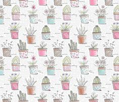 Lots of Pots fabric by littlerhodydesign on Spoonflower - custom fabric