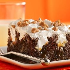 Better-Than-Almost-Anything Cake #chocolate #coconut #caramel #toffee