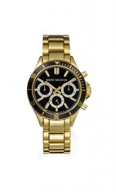 Mark Maddox MM3016-57 Női karóra Gold Watch, Rolex Watches, Marvel, Chic, Accessories, Html, Fashion, Clocks, Shabby Chic