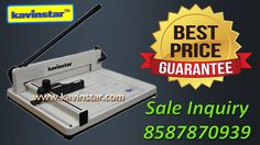 ★ MANUAL PAPER CUTTER MACHINE MANUFACTURER IN INDIA ★ Get best price call #8587870939 or 01165446546 We are presenting a wide range of Ream Cutters, which are manufactured I accordance with the industry set standards. Our Cutters are widely used in printing organizations as a value for money machine. These are highly appreciated as these are fabricated using premium quality raw material   Specifications: - •Size: A3 •Base: Metal •Cutting Mode: Manual •Max. Sheet: Whole one rim •Ream…