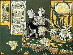 Original Prints for sale by Richard Bawden - Hayletts Art Gallery Commercial Art, Living Room Art, Linocut Prints, Prints For Sale, Cat Art, Caricature, Painting Inspiration, Illustration Art, Illustrations