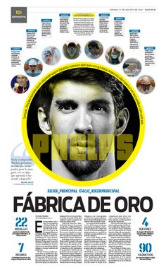 PHELPS DE ORO #Newspaper #GraphicDesign #Layout