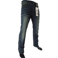 (7945) Mens Casual Vintage Low Rise Straight Washing Jeans