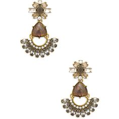 Sole Society Multi Stone Drop Earring ($40) ❤ liked on Polyvore featuring jewelry, earrings, crystal combo, sole society, cocktail jewelry, holiday jewelry, evening earrings and special occasion jewelry