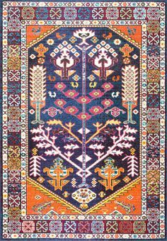 Achieve your southwestern style goals with Rugs USA's Chroma CB22 Tribal Tree Of Paradise Medallion Rug!