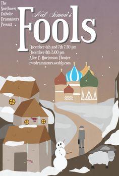 "Fools"" Show Poster – Adrian Hatch Design"
