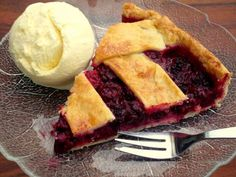 Brombeer-Pie mit Vanilleeis #Rezept