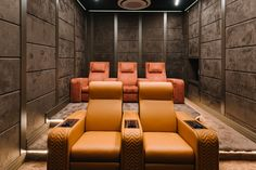 Luxury Home Theater in Milan - The partnership between Vismara and Samsung keeps going and strengthening thanks to the launch of a - Home Theater Room Design, Home Cinema Room, Home Theater Setup, Best Home Theater, Home Theater Speakers, Home Theater Rooms, Home Theater Seating, Cinema Theatre, Built In Entertainment Center
