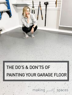 Painting Your Garage Floors – Do's and Dont's! Painted Garage Walls, Garage Paint Colors, Painted Floors, Painted Garage Interior, Garage Paint Ideas, Garage Ideas, Garage Color Ideas, Basement Ideas, Garage Kits