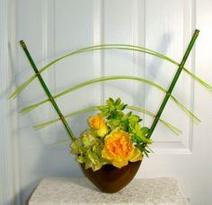 Modern Ikebana Silk Floral Arrangement