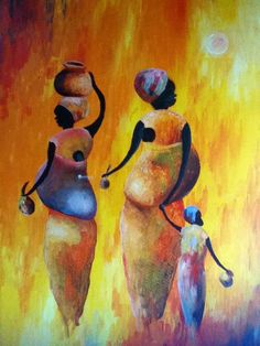 """Women of Uganda"" painting by Ugandan artist Brian Bugembe"