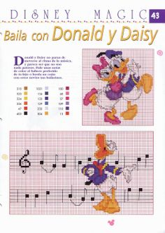 Cross Stitch / Cross stitch: Musical Donald in embroidery