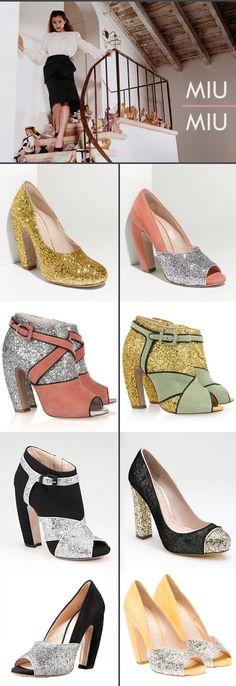 miu miu glitter shoes. to die for!