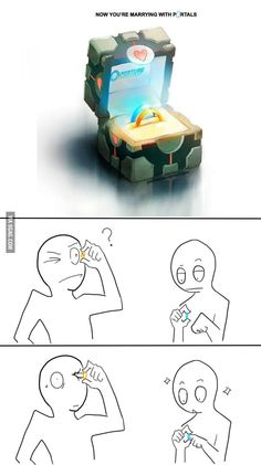 Funny pictures about Portal Rings Could Be Dangerous. Oh, and cool pics about Portal Rings Could Be Dangerous. Also, Portal Rings Could Be Dangerous photos. Bazar Bizarre, Funny Jokes, Hilarious, Funniest Memes, Gaming Memes, Funny Comics, The Funny, Nerdy, Pokemon