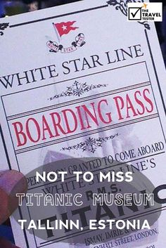 Don't miss the Titanic Museum on your Daytrip from Helsinki: Visiting Enchanting Tallinn | With the Eckerö Line, you can make the crossing to Tallinn twice per day from Finland| The Travel Tester- Self-Development Trough Travel