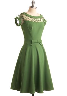 With Only a Wink Dress in Peridot green by Bettie Page | Mod Retro Vintage Dresses | ModCloth.com