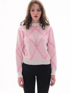 Cross the line sweater - pink