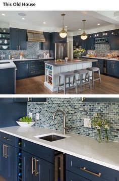Luxury kitchen: 65 photos of projects to inspire - Home Fashion Trend Home Decor Kitchen, Kitchen Furniture, Kitchen Interior, New Kitchen, Home Interior Design, Home Kitchens, Wooden Kitchen, Küchen Design, Design Ideas