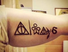 This wonderful mash-up./ Awesome Harry Potter tattoos