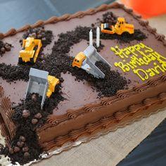 Ideas For Birthday Party Food Construction Cake Ideas Birthday Cake Kids Boys, Toddler Boy Birthday, Truck Birthday Cakes, Birthday Sheet Cakes, Boy Birthday Parties, 2nd Birthday, Birthday Ideas, Boy Toddler, Birthday Decorations