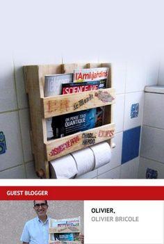 Rangement papier toilette et porte-revues