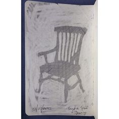 Today's sketch of the day - a negative space drawing of an antique chair   Flickr - Photo Sharing!
