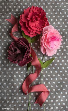 Felt Peony Flower