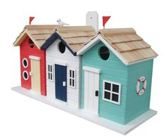 "Features:  Animal Type: -Bird.  Birdhouse Design: -Mounted.  Birdhouse Style: -Cottage.  Color: -Multi-colored.  Material: -Wood. Dimensions:  Overall Height - Top to Bottom: -8.25"".  Overall Width -"