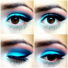 Cute Colorful Eye Makeup Brown Eyes