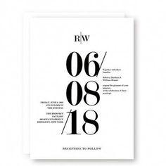 black and white modern wedding invitations/ cheap spring wedding invitations/ stylish monogram spring wedding invitations