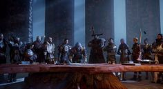 The War Table - Dragon Age: Inquisition - okay but guys, has anyone noticed that Solas is in the same spot as Judas in The Last Supper? Dragon Age Inquisition Cole, Dragon Age Inquisition Characters, Dragon Age Rpg, Dragon Age Series, The Inquisition, New Dragon, World Of Warcraft, Grey Warden, Last Supper