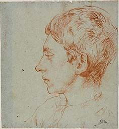 Augustus Edwin John, Ambrose McEvoy, Red chalk on blue wove paper Drawing Portraits, Portrait Sketches, Portrait Art, Sketch Drawing, Painting & Drawing, Sketching, Gwen John, Drawing Studies, English Artists
