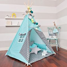 Tipi Set mit Bodenmatte - Breath of Turquoise