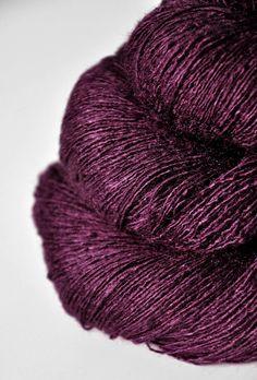 Farb-und Stilberatung mit www.farben-reich.com - Poisoned bordeaux  - Tussah Silk Lace Yarn