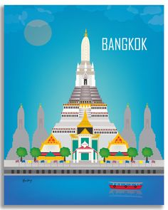 Bangkok Thailand wall art comes in an array of finishes, materials, and sizes…