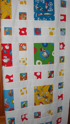 good idea for big Seuss fabrics