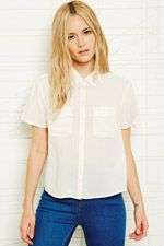 Cooperative Pocket Detail Blouse at Urban Outfitters