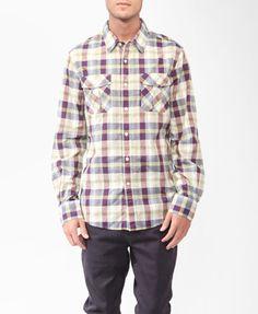 Long Sleeve Plaid Shirt   21 MEN $27