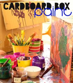 The Practical Mom: Paint a Giant Cardboard Box (Art Studio Diaries #5...