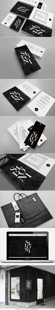 visual identity   Salon1 by kissmiklos   Store Brand Identity