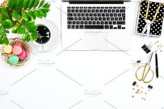 Feminine workplace Flat lay JPG by LiliGraphie on @creativemarket
