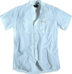 Chemise sans col allsize composé de 100 % coton coloris Blanc  poches poitrine avec bouton Manches courtes Allsize vous propose cette chemise sans col pour homme fort dans les tailles L au 8 XL