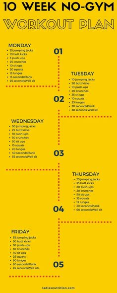 10 Week No Gym Workout Plan